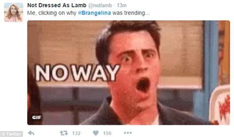 Meme Shock - jennifer aniston memes flood twitter after angelina jolie and brad pitt s divorce daily mail