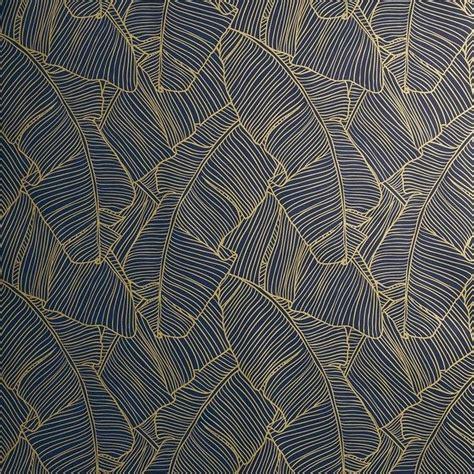 cb palm navy  gold  adhesive wallpaper