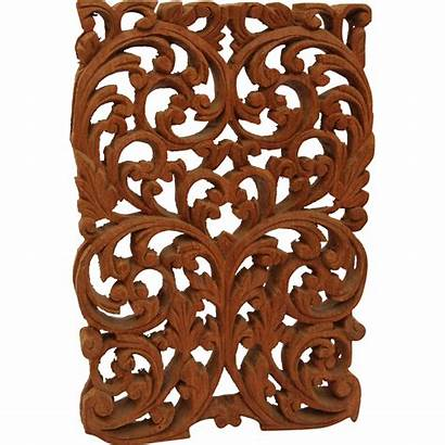 Wood Window Carving Panel Arabic Carved Floral