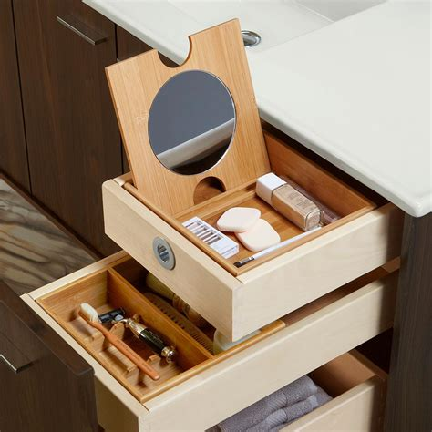 conquer  bathroom clutter  tailored vanity storage