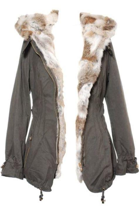 parka femme hiver en fourrure de lapin on parle de vous manteau d hiver 224 capuche sur