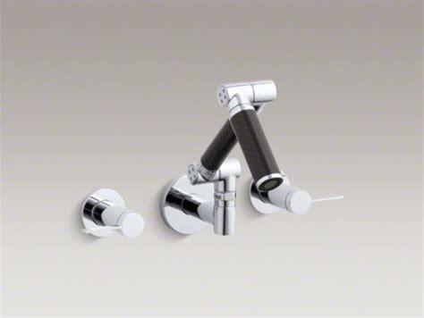kohler karbon faucet wall mount kohler karbon r articulating wall mount bathroom sink