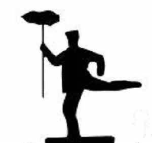 18 x Dancing Bert from Mary Poppins flying silhouette for ...