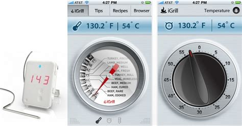 wireless thermometer iphone wireless thermometer uses iphone for readout wired