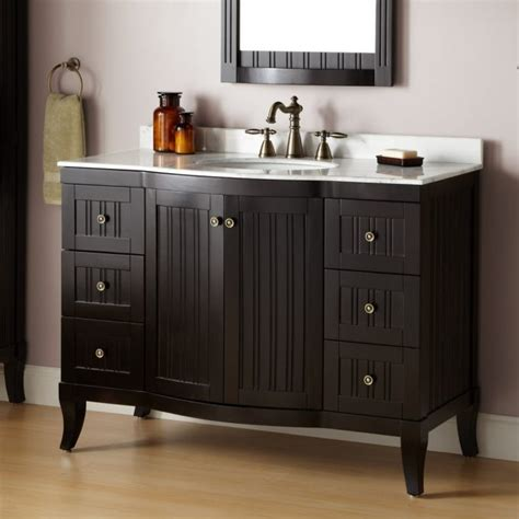 Bathroom Perfect 48 Inch Vanity For Your Bathroom. Narrow Accent Chair. Wooden Writing Desk. Corsi Cabinets. Farm Table Chairs. Contemporary Chandelier Lighting. Carrera Marble Bathrooms. Thomas Bina. Herringbone Floor
