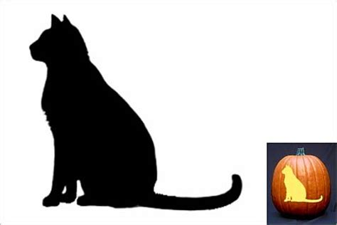 spooky cat pumpkin stencils youll love carving