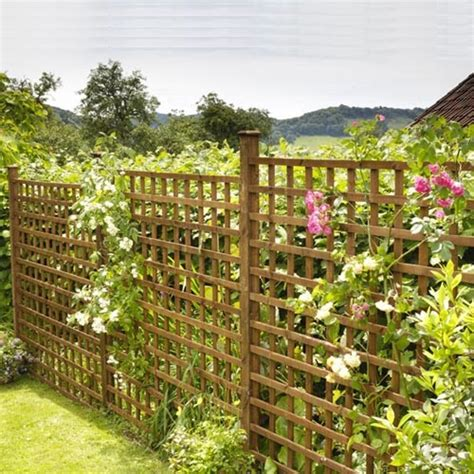 Square Wood Trellis by Square Trellis With Timber Posts Kudos Fencing Supplies