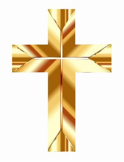 Cross Christian Clipart Transparent Dourada Clip Golden
