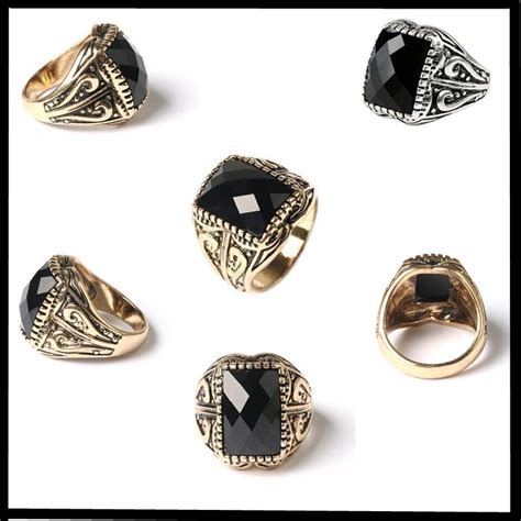 gold jewellery discount arrival luxury mens ring gold silver plated