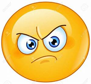 Anger clipart emoji - Pencil and in color anger clipart emoji