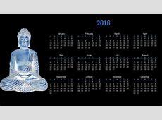 Fond d'écran calendrier, 2018 Year, fond noir, mois