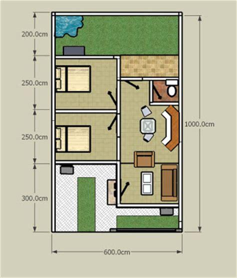 desain denah rumah diatas lahan  kecil luas lahan