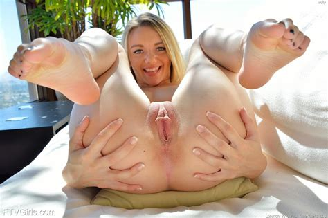Blonde Teen Molly Plays With Both Of Her Holes In Tease
