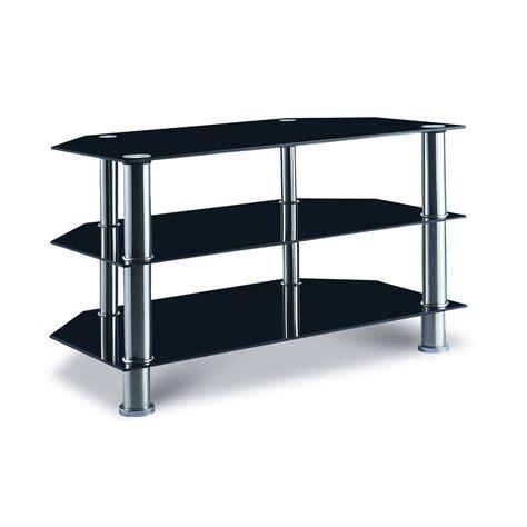 meuble bureau verre deco in meuble tv en verre trempe noir trio tv trio