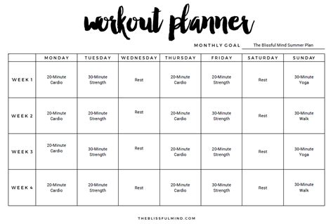 Workout Template 9 Excel Workout Templates Excel Templates