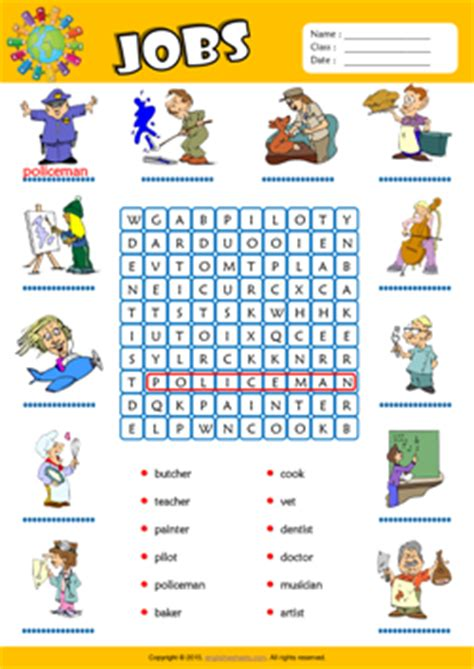 Living Room Dictionary by Jobs Esl Printable Worksheets For Kids 1