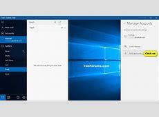 Add or Delete Account in Windows 10 Mail app Windows 10