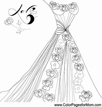 Coloring Pages Adult Weddings Quinceanera Form Printable