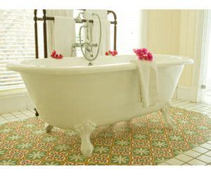 clean iron stains  acrylic tub shower house