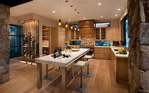 12 manieres d39integrer une cave a vin dans votre cuisine With cuisine avec cave a vin
