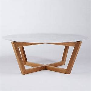 marvelous round white marble coffee table with pine wood With white round coffee table wooden legs