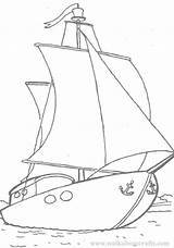 Yacht Coloring Pages Colouring Colour Popular Library Clipart Coloringhome sketch template