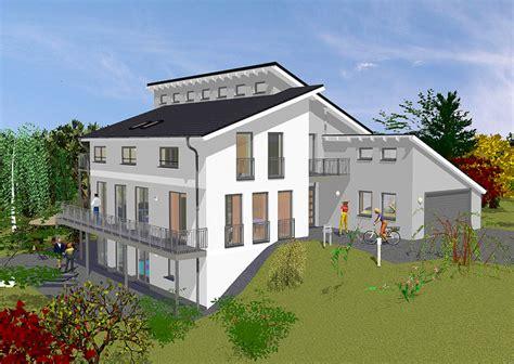Stadtvilla Mit Garage Im Keller by Villa Mit Pultdach In Massivbauweise Gse Haus