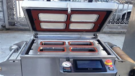 vacuum sealing machine tray boxes fast food containers sealer equipment  gas flushing