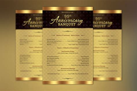 church anniversary  sheet program template  behance