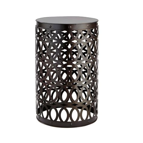 Garden Stool by Hton Bay Seville Bronze 19 4 In Metal Garden Stool