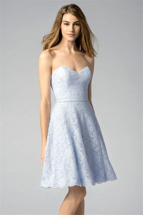 robe bleu pastel pour f 234 te de mariage en dentelle courte