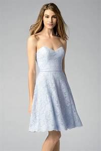robe bleu pastel pour fete de mariage en dentelle courte With robe couleur pastel pour mariage