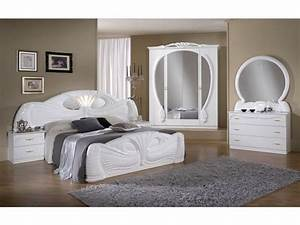 White italian high gloss bedroom furniture set homegenies for Italian high gloss furniture