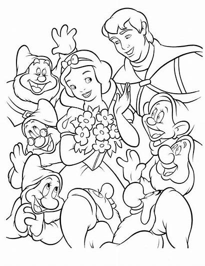 Coloring Disney Pages Snow Princess Printable Sheets