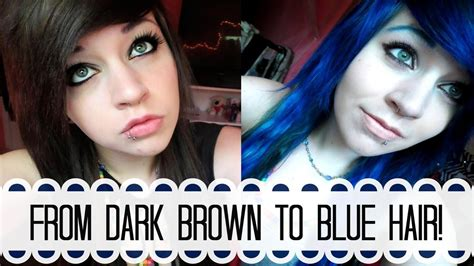 bleaching  dying  hair blue youtube