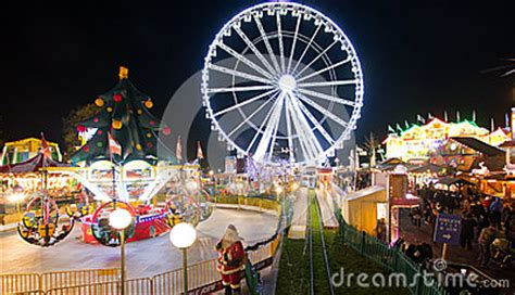winter wonderland  london editorial photography image