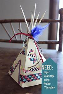 i found this adorable template online to make mini teepees With 3d tipi wedding invitations