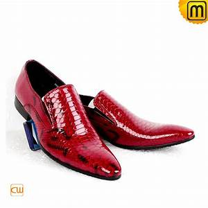Italian leather dress wedding shoes for men cw762053 for Red dress shoes for wedding