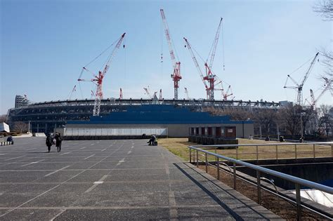 tokyo photo gallery construction national stadium february