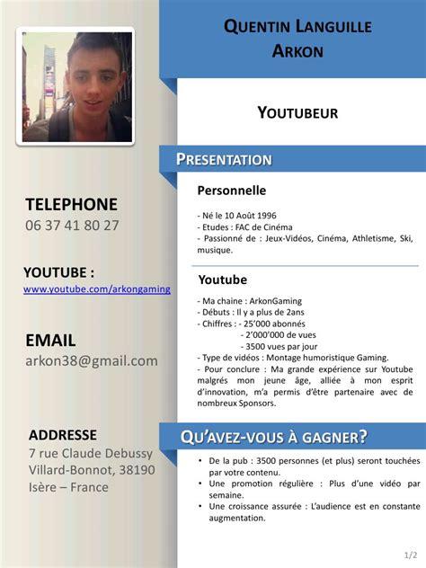 Type De Cv Gratuit by Modele Cv Gratuit Pdf Exemple De Cv Femme De