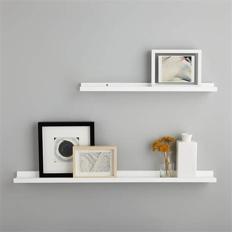 white ledge wall shelves  container store