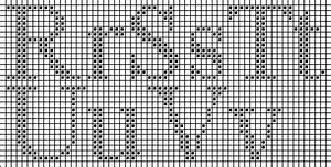 Times New Roman Alphabet Cross Stitch Chart