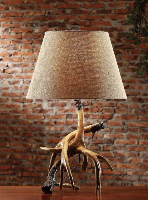 rustic table lamps trophy table lamp  burlap shade