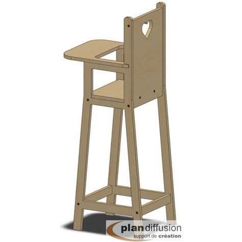 chaise haute bois poupée comment fabriquer une chaise haute pour poupéée