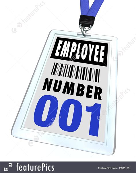 employee badges online employee number 1 badge and lanyard stock illustration