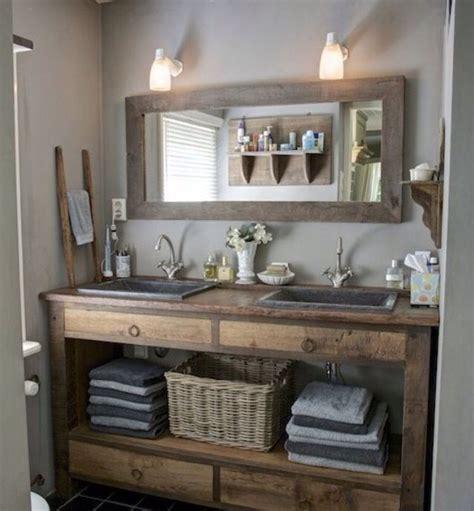 Rustic Themed Bathroom by Best 25 Rustic Bathroom Vanities Ideas On