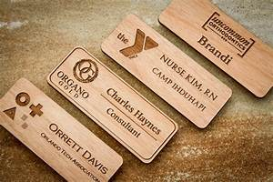 wood name badge custom name badges engraved name tag with With handmade name tags