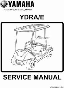 2013 Yamaha Ydra  E The Drive Service Manual Golf Cart
