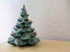 Atlantic Mold White Ceramic Christmas Tree by Vintage Ceramic Christmas Tree With Lights Blue Spruce