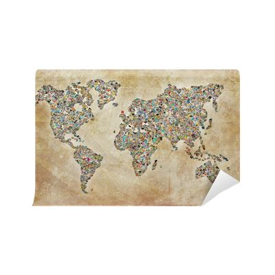 carte du monde photos texture vintage wall mural pixers 174 we live to change
